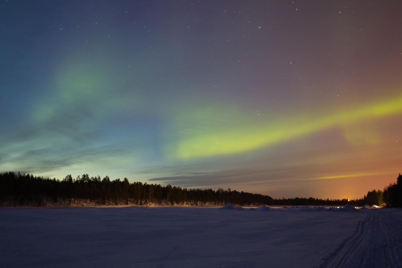 Nordlichter in Lappland (Finnland)